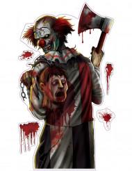 Pegatina de payaso sangriento Halloween