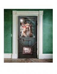Decoración puerta manicomio sangriento Halloween