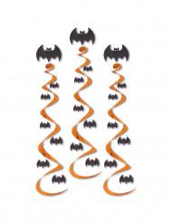 3 Guirnaldas con forma de espiral murciélagos Halloween