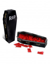 Centro de mesa caja ataúd RIP Halloween
