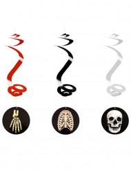 3 Decoraciones colgantes Halloween esqueleto 60 cm