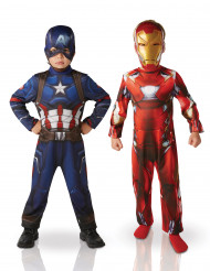 Pack disfraces Iron Man y Capitán América niño - Civil War™
