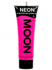 Gel cuerpo y cara rosa purpurina UV 12 ml Moonglow ©