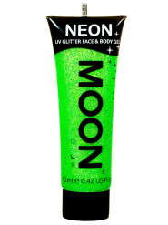 Gel cara y cuerpo purpurina verde UV 12 ml Moonglow ©
