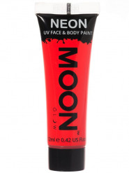Gel cara y cuerpo rojo fluorescente UV Moonglow™ 12 ml