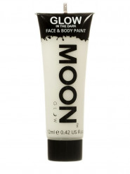 Gel cara y cuerpo blanco fosforescente 12 ml Moonglow©
