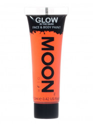 Gel cara y cuerpo naranja fluorescente 12 ml Moonglow ©