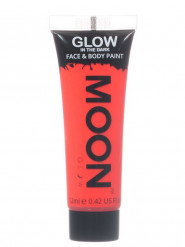 Gel cuerpo y cara rojo fosforescente 12 ml Moonglow ©