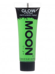 Gel cuerpo y cara verde fosforescente 12 ml Moonglow ©