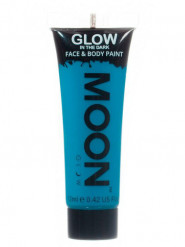 Gel rostro y cuerpo azul fluorescente 12 ml Moonglow ©