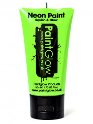 Gel cuerpo y cara verde fluorescente UV 50 ml