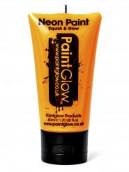 Gel cuerpo y rostro naranja fluorescente UV 50 ml