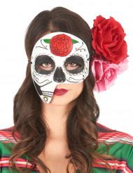 Máscara asimétrica Día de los muertos