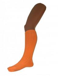Calcetines largos naranjas fluo 53 cm adulto