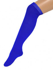 Calcetines largos azules 53 cm adulto