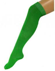 Calcetines largos verdes 53 cm adulto