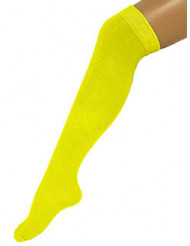 Calcetines amarillos fluorescente 53 cm adulto