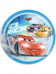 8 Platos de cartón Cars hielo Ice Racers™ 23 cm