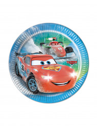 8 Platos pequeños de cartón Cars hielo Ice Racers™ 19,5 cm