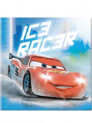 20 Servilletas de papel Cars hielo Ice Racers™ 33 x 33 cm