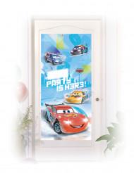 Decoración de puerta Cars hielo Ice Racers™ 76x150 cm
