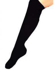 Calcetines largos negros 53 cm adulto