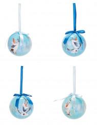 4 Bolas de Navidad Olaf Frozen™ 7,5 cm