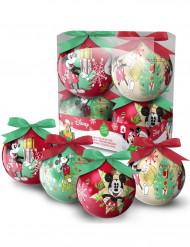 4 Bolas de Navidad Mickey™ 7,5 cm