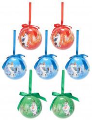 7 Bolas de Navidad Olaf Frozen™ 7,5 cm