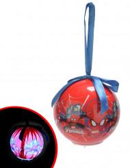 Bola luminosa Spiderman™ 7,5 cm Navidad