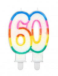Vela de cumpleaños cifra 60