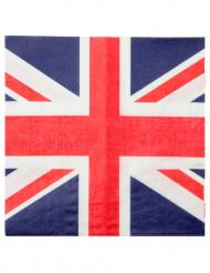 20 Servilletas de papel Reino Unido 33x33 cm