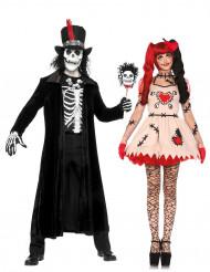 Disfraz de pareja vudú Halloween