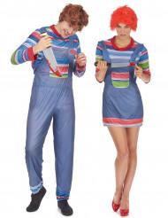 Disfraz de pareja muñeco asesino Halloween