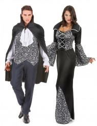 Disfraz de pareja vampiro gótico Halloween