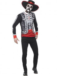 Disfraz mexicano esqueleto Día de los Muertos