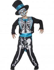 Disfraz traje esqueleto azul niño Día de los muertos