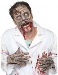Kit látex zombie máscara y manos adulto Halloween