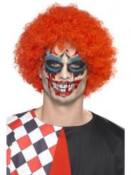 Maquillaje payaso maléfico y con tatuaje y sangre falsa adulto Halloween