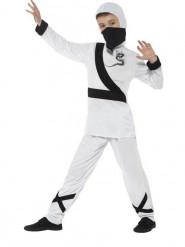 Disfraz de ninja blanco niño