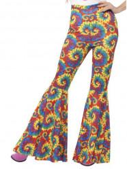 Pantalón hippie multicolor mujer
