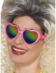 Gafas de corazón con cristales multicolores mujer