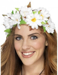Corona de flores margaritas mujer