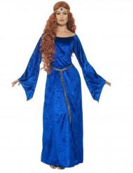 Disfraz medieval azul mujer