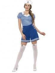 Disfraz de marinera azul pantalón mujer