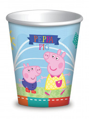 8 Vasos de cartón Peppa Pig™ 260 ml