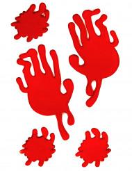 Manchas de sangre manos gel