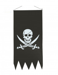 Bandera pirata negra 86 x 43 cm