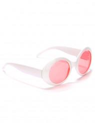Gafas redondas blancas plástico adulto