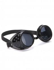 Gafas negras de biker plástico adulto
